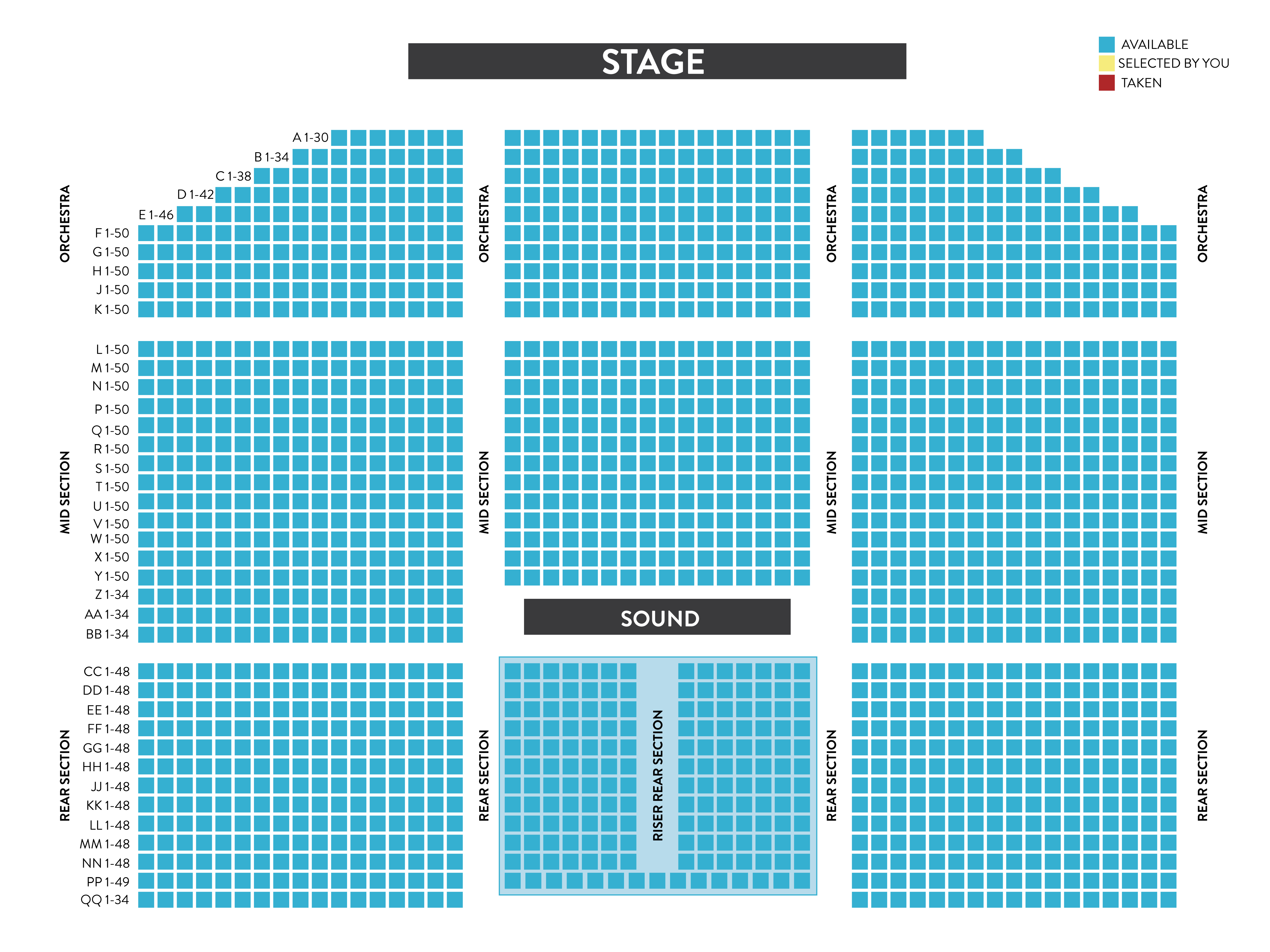 Griffin Music Hall Seating Chart