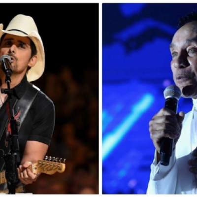 Brad Paisley, left, and Smokey Robinson will perform during a celebration of the new Murphy Arts District in El Dorado, Ark. (John Shearer/Getty Images; Jonathan Leibson/Getty Images)