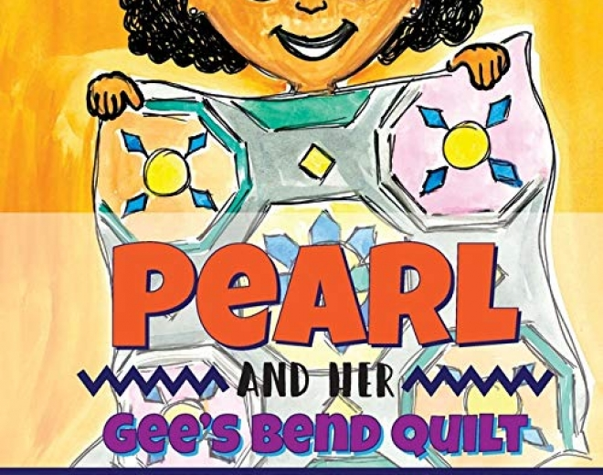 Pearl and her gee's bend quilt